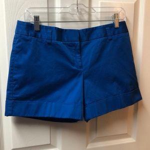 Royal blue dress shorts from Express